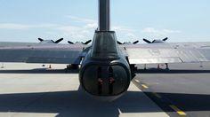 B-17  tail  gun looking forward