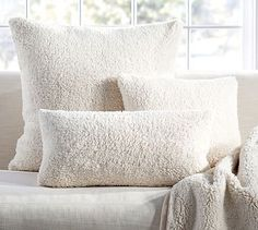 Shop faux sheepskin throw from Pottery Barn. Our furniture, home decor and accessories collections feature faux sheepskin throw in quality materials and classic styles. Pillow Covers, Sheepskin Pillows, Luxury Bedroom Lighting, Cozy Accessories, Bed, Bed Pillows, Cozy House, Pillows, Cozy Bed