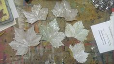 All of my glued leaves.