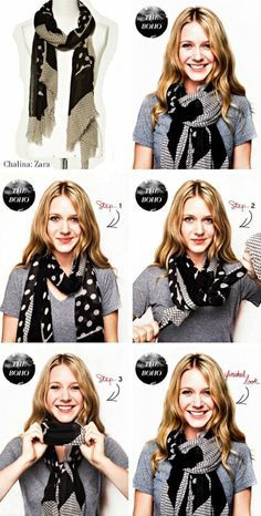 Mirame & Vestite: Cómo usar: chalinas y bufandas.Mirame & Vestite: Using: shawls and Step-by-step Smart ways to tie a scarf – the perfect fall outfit - Women FashionWant to learn how to tie a scarf in a brand new stylish way? Ways To Wear A Scarf, How To Wear Scarves, Tie Scarves, Fall Scarves, Look Fashion, Winter Fashion, Fashion Tips, Mode Outfits, Fall Outfits