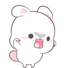 LINE Official Stickers - Happy Bunny Sweetness Example with GIF Animation Cute Bunny Cartoon, Cute Kawaii Animals, Cute Couple Cartoon, Cute Cartoon Pictures, Cute Love Cartoons, Cute Love Pictures, Cute Puns, Cute Memes, Cute Love Gif