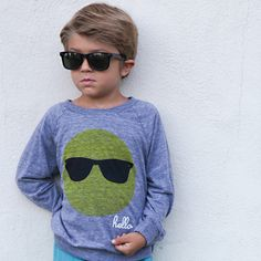 Hello Apparel | Sunglasses (Kids) Raglan Tri-Blend Shirt