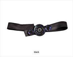 Beaded Florettes Headband in black - #janetran #specialoccasion #headband All lovers of beads and sequins will adore this intricately beaded design on a comfortable and easy to wear stretch headband. It's all about the details.