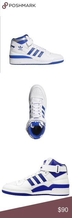 separation shoes acb11 fe9f8 Adidas Forum Mid Refined Mens Sneakers sz 13 New Never been worn w o box  Royal Blue white adidas Shoes Athletic Shoes