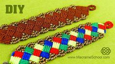 DIY Beaded Macrame Square Bracelet. This bracelet looks great! In this tutorial I showed you a multi-colored version. You can change colors of your choice. H...