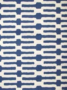 Links Indigo | Navy and White Fabrics | Annie Selke Fabric