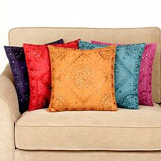 Mirrored throw pillows. Add a little glitz and glamour to your decor. Only $12.95