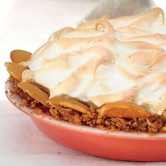 Butterscotch Banana Pudding Pie | An over-the-rim crust laced with toffee transforms a classic dessert into a blue-ribbon pie. | #Recipes | SouthernLiving.com