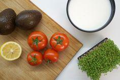 Zutaten für die Kefir Avocadosuppe