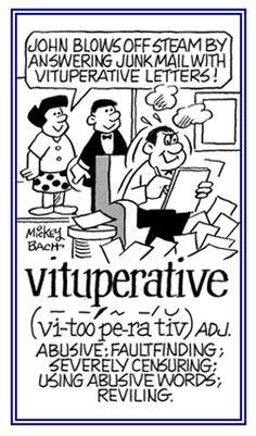 「vituperation」酷評、非難