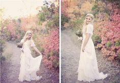 Pretty. Fall Bridal   Groomal Session by Alixann Loosle Photography