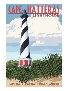 Cape Hatteras Lighthouse - Outer Banks, North Carolina Posters by Lantern Press at AllPosters.com