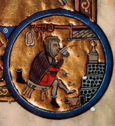 Illumination - the spotted thing on the right is the large and central Russian stove found in all homes. 13th C.