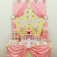 vintage circus party decorations | vintage pink circus 01 vintage pink circus carnival birthday party ...