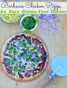 Gluten-Free Barbecue Chicken Pizza - A Quick and Easy Weeknight Meal from www.cookitallergyfree.com