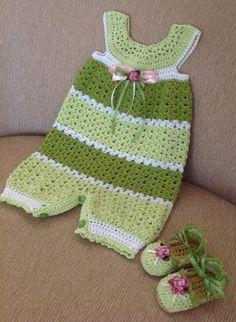 Crochet romper and matching espadrilles 9-12 months $47