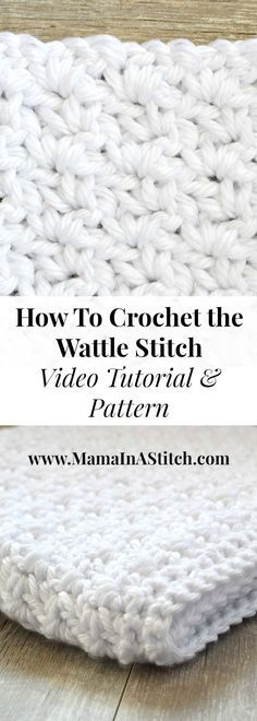 How To Crochet the Wattle Stitch via Mama In A Stitch Knit and Crochet Patterns - Jessica. This easy crochet stitch creates a beautiful texture. Learn how to crochet it with a video and written free pattern! Picot Crochet, Easy Crochet Stitches, Crochet Simple, Tunisian Crochet, Love Crochet, Learn To Crochet, Diy Crochet, Crochet Crafts, Crochet Projects