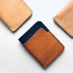 Best Slim Wallet, Slim Leather Wallet, Diy Leather Projects, Leather Craft, Diy Leather Card Holder, Diy Wallet, Diy Vetement, Leather Design, Backpack