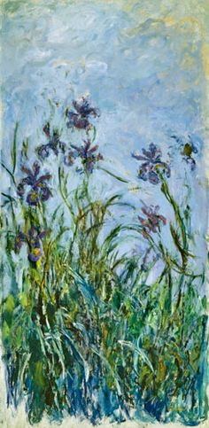 Claude Monet  Iris Mauves
