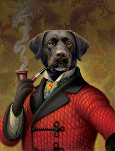 Dan Craig - Dog Anthropomorphic Painting