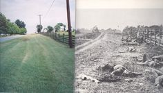 then and now history photos | Civil War Sites Then and Now