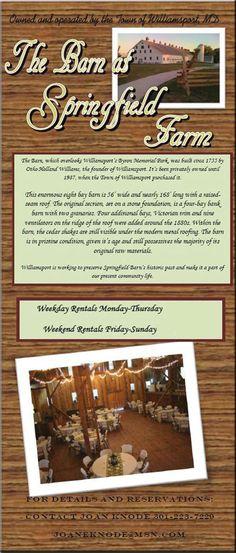 Williamsport Maryland~The Barn at Springfield Farm