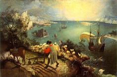 Landscape with the Fall of Icarus | Pieter Bruegel the Elder | c. 1558 | oil on wood | 29 x 44 in | Musees Royaux des Beaux-Arts, Brussels, belgium