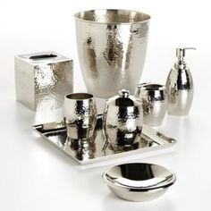 Guest Bath - Option 3 - Clara Hammered Bath Collection  Collection: The Manor    Description    Classic styling meets modern metal. Pewter hammered finish will add the perfect touch of shine and elegance to your bathroom décor.