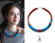 https://www.facebook.com/GuzikPrawda.handmade #handmade #felting #felt #necklace #rękodzieło #etsy