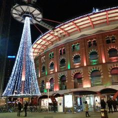 Las Arenas during Christmas - Barcelona, Spain