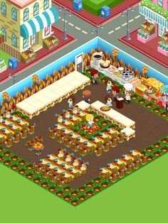 Restaurant story the game. I love this game!!! It is the fall thyme