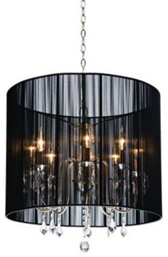 the romantic side of rock  roll, a black string chandelier for the dining room or sexy bedroom
