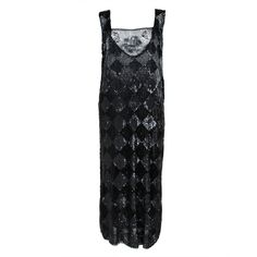 1920's Jet Black Beaded Harlequin Flapper Dress ❤ liked on Polyvore featuring dresses, gatsby dress, beaded flapper dresses, embroidered dress, 1920s cocktail dresses and 20s flapper dress
