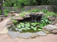 Enhance your outdoor living space by adding a simple water garden feature. photo by satanoid on Flickr