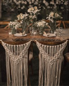 Macrame wedding chair cover, macrame wall hanging, boho wedding decor Macrame chair back for weddings, ceremonies, and events. This beautiful macrame chair back is perfect for the back of a bride's and groom's Rustic Boho Wedding, Diy Wedding, Wedding Ideas, Dream Wedding, Wedding Trends, Bohemian Weddings, Wedding Inspiration, Wedding Ceremony, Bohemian Bride