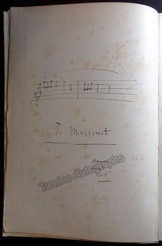 Massenet Jules - Signed Manon Vocal Score 1895