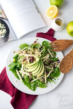 Buckwheat Green Apple Cranberry Avocado Salad - Sweet and savory, with creamy avocado to make this filling and refreshing! vegan
