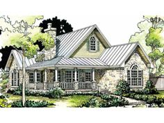 Plan 48033FM Petite French Cottage French country house plans