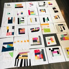 """modern quilting designs I love that many blocks are """"framed,"""" but some break that rule. Sampler Quilts, Scrappy Quilts, Crumb Quilt, Modern Quilting Designs, Quilt Modernen, String Quilts, Contemporary Quilts, Textiles, Machine Quilting"""