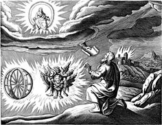 [[File:Ezekiel's_vision.jpg|thumb|Copy of Matthäus Merian's engraving of Ezekiel's vision (1670).]]
