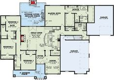 European House Plan with Vaulted Great Room - 60699ND | 1st Floor Master Suite, Bonus Room, Butler Walk-in Pantry, CAD Available, Corner Lot, European, Northwest, PDF, Split Bedrooms | Architectural Designs