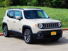 The all new and oh so fun to drive 2015 Jeep Renegade Latitude in Mohave Sand.