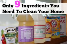 natural home cleaning: The Only 9 products you need to clean your home !