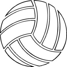 free printable volleyball clip art shape collage shapes rh pinterest com free clipart volleyball net free volleyball clip art designs