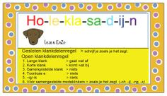 Hulpkaartje spelling Ho-le-kla-sa-d-ij-n Open en gesloten klanken Grammar, Dutch, Islam, Language, Classroom, School, Dyslexia, Class Room, Dutch People