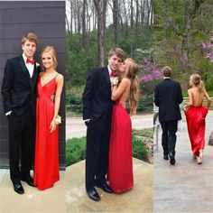 2017 Red Sexy Simple Popular Backless Charming Prom Dress, Evening Party Dress, PD0305