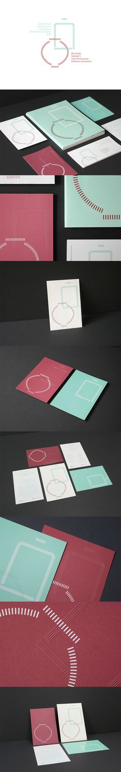Between Serenity and Dynamism; Invitation Cards, Invitations, Korean Traditional, Serenity, Identity, Branding, Layout, Ceramics, Projects