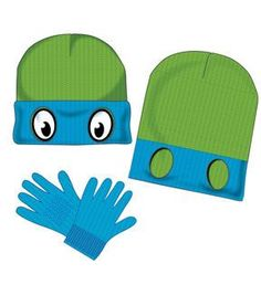 Teenage Mutant Ninja Turtles Kids Beanie & Gloves Set