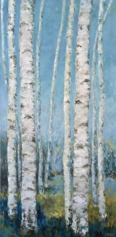 Aspen grove original painting by Janine Medlin Fine Art, stand of birch trees, Colorado Aspen original art, Aspens Original Art, Original Paintings, Aspen Trees, Golden Leaves, Before Us, Stand Tall, Wood Paneling, Serenity, Fine Art