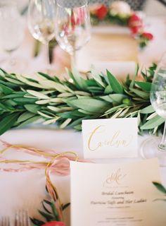 Photography: Tec Petaja - www.tecpetaja.com  Read More: http://www.stylemepretty.com/2015/05/04/nchampagne-flower-crown-bridal-luncheon/